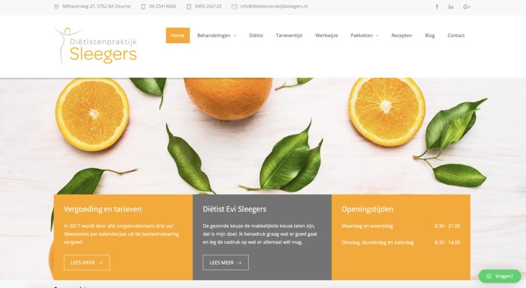 Tekstschrijver Deurne Staaldraad Dietistenpraktijk Sleegers