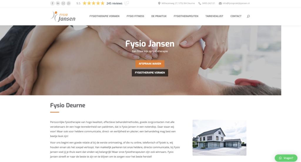Tekstschrijver Deurne Staaldraad Fysio Jansen