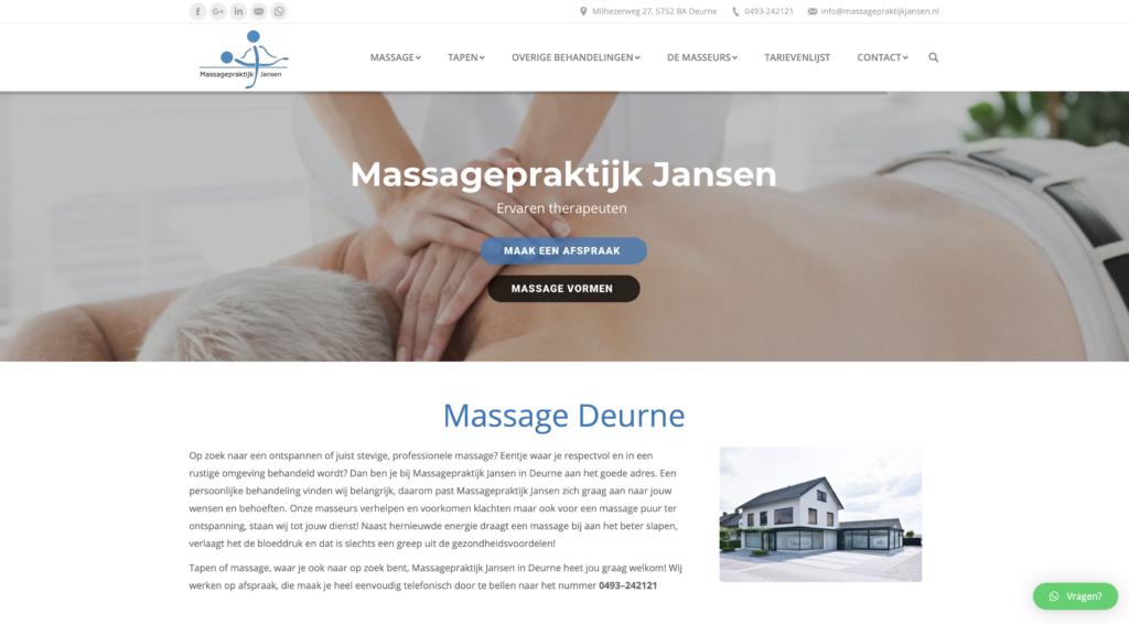 Tekstschrijver Deurne Staaldraad Massagepraktijk Jansen