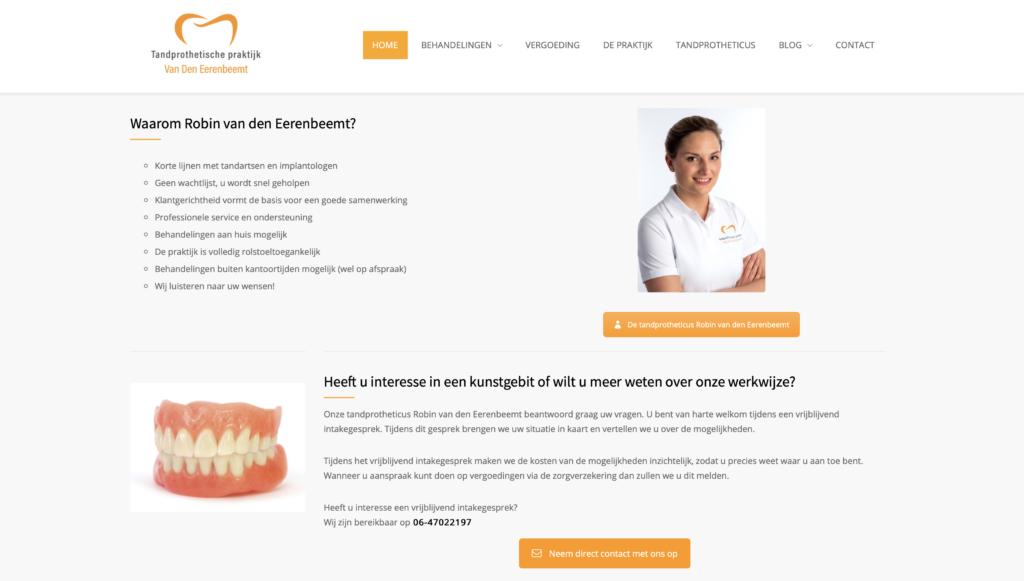 Tekstschrijver Deurne Staaldraad Tandprothetische praktijk van den Eerenbeemt